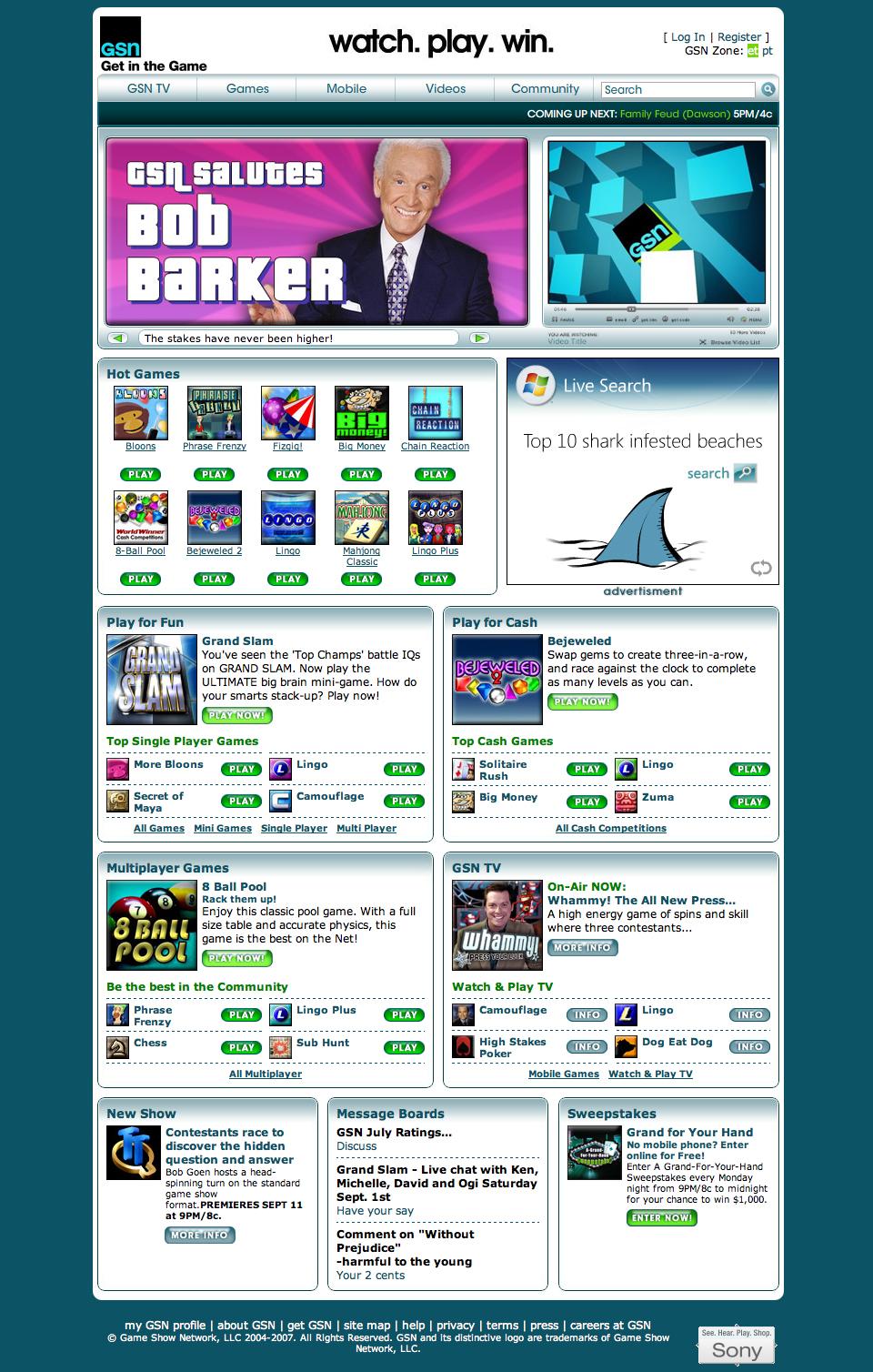 Game Show Network – GSN.com