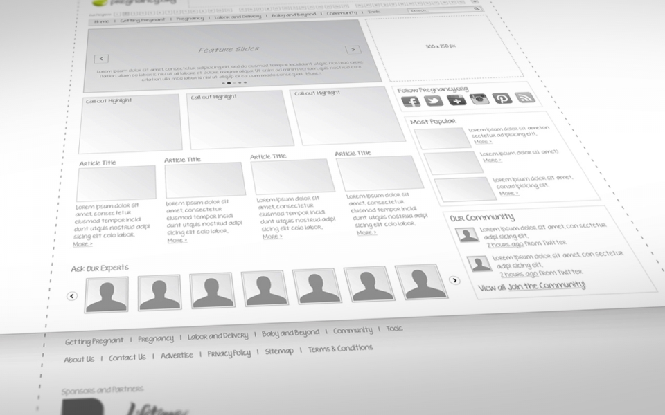 Process: Define - Wireframe