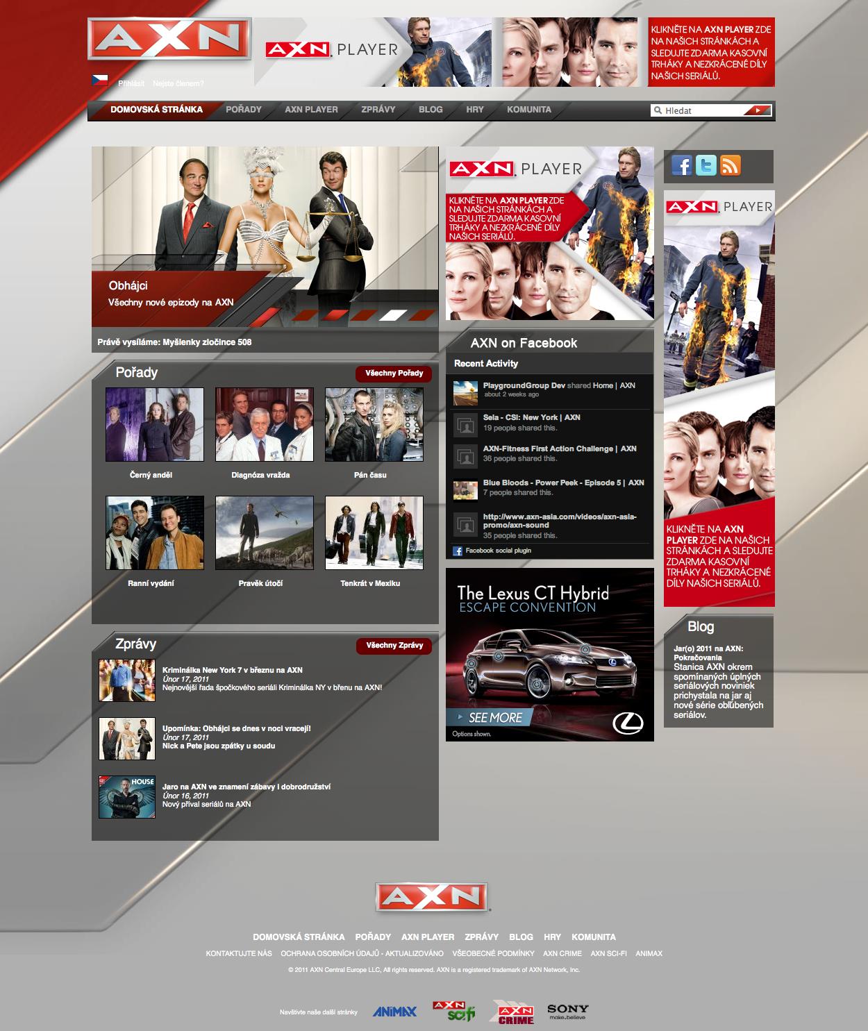 AXN.com  Europe