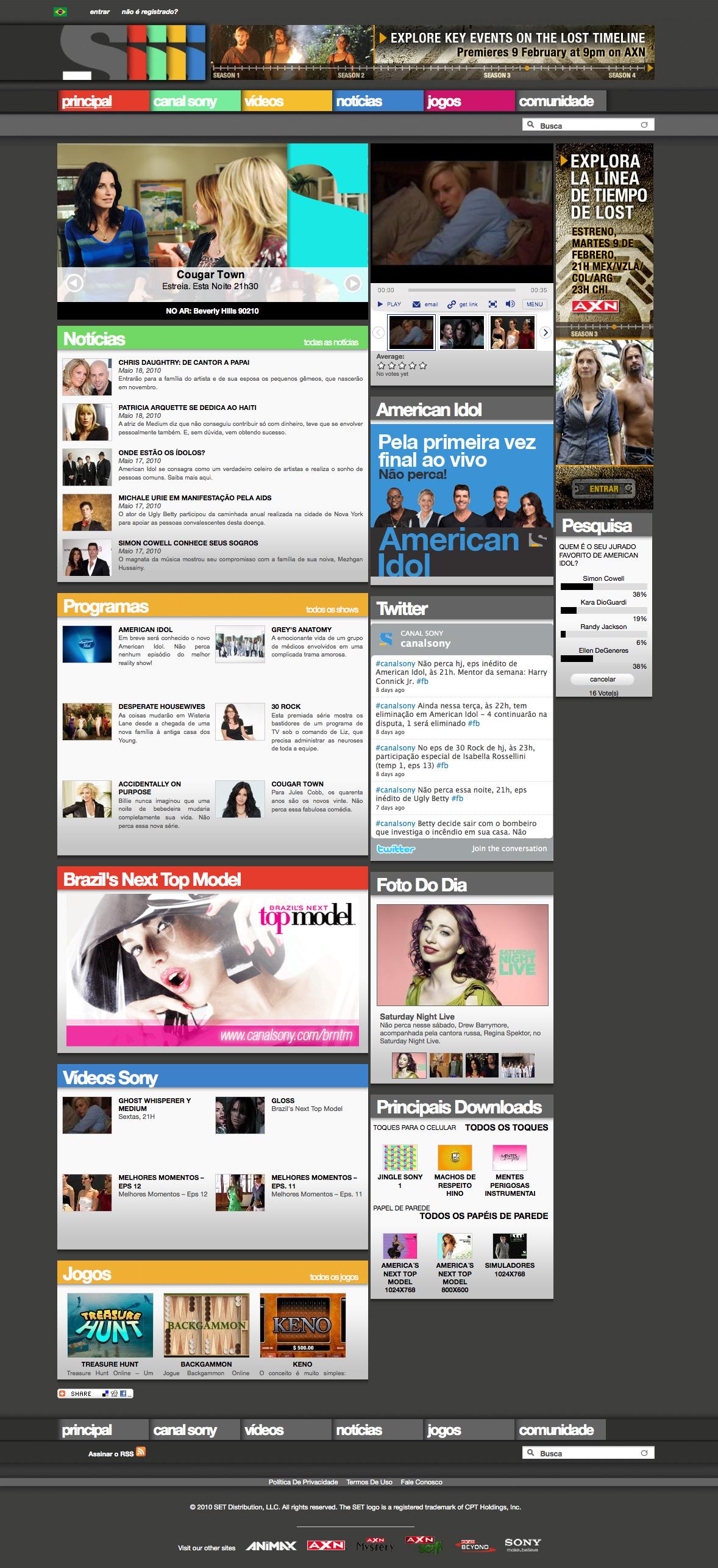 CanalSony.com – SET Latin America and Brazil