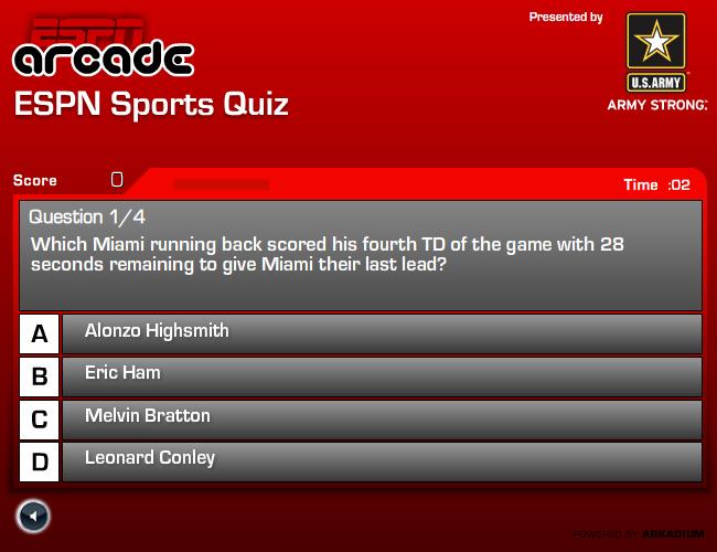 ESPN Sports Video Quiz